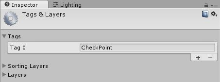 Creating the tag 'CheckPoint'
